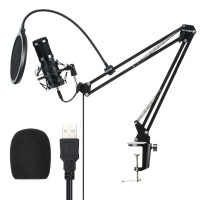 Suport reglabil Recording Studio BW-CM2, Microfon Profesional, Filtru, Amortizor Metalic