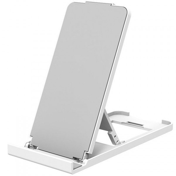 Suport telefon mobil si tableta NytroStand Pro, Anti-Alunecare, Alb