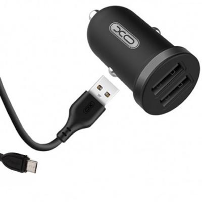 Incarcator auto rapid TZ-08 2.1A + cablu USB 100cm