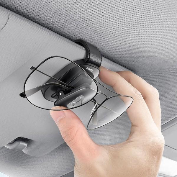 Suport auto ochelari cu fixare la parasolar, Baseus Platinum