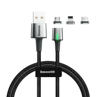Cablu incarcare si transfer date magnetic Baseus Zinc 200cm USB 3in1