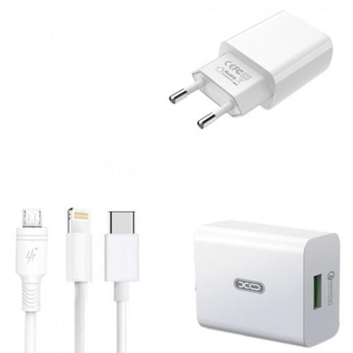 Incarcator retea L36, Fast Qualcomm Charge 3.0, 3A + cablu