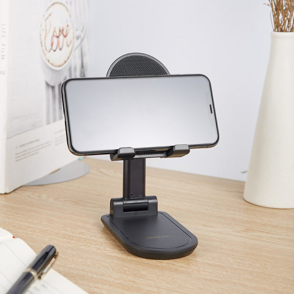 Suport telefon si tableta Stand Pro, Telescopic, Ajustabil Si Pliabil, Negru