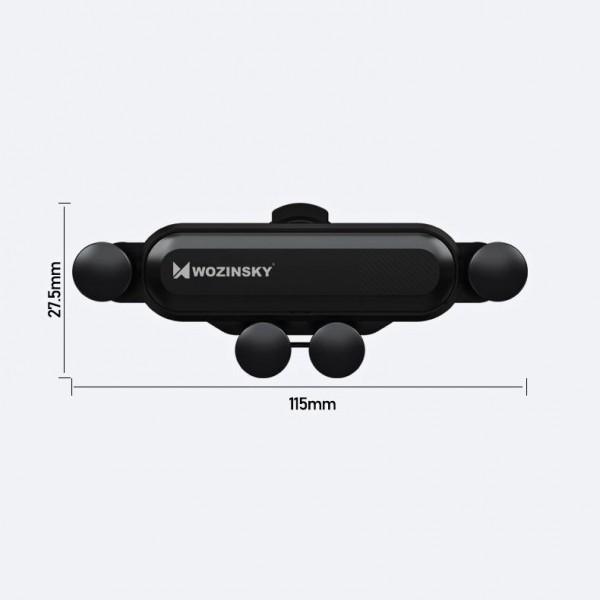 Suport auto Wozinsky Gravity Car Air Vent Black