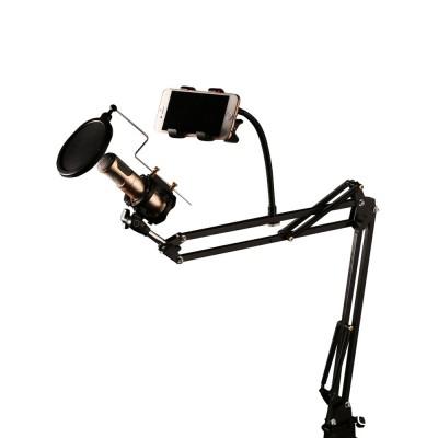 Suport microfon si smartphone Live Studio CK-100, Filtru microfon, Profesional