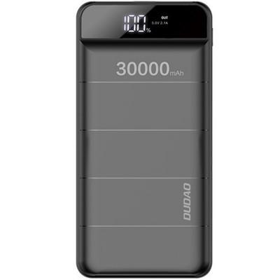 Baterie externa PowerBank 30000mAh, 3x USB, Afisaj, Lanterna LED, 2.1A, Black