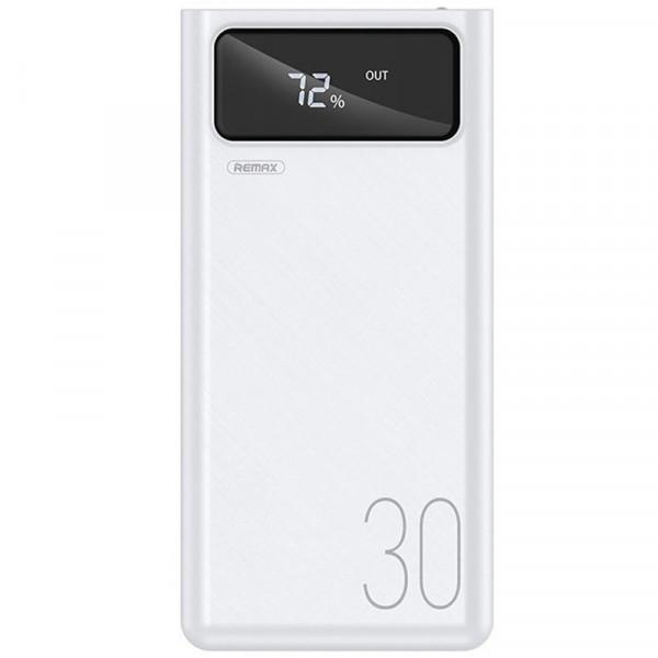 Baterie externa profesionala PowerBank 30000mAh, 4x USB, Afisaj, 2x Lanterna LED, 2.1A