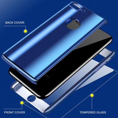 Husa blue gloxxy 360 cu folie sticla iPhone 6 / 6s