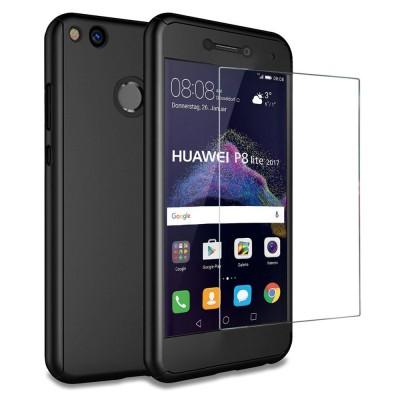 Husa 360 black cu folie sticla Huawei P9 Lite 2017