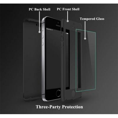 Husa 360 + folie sticla iPhone 5 / 5s / SE