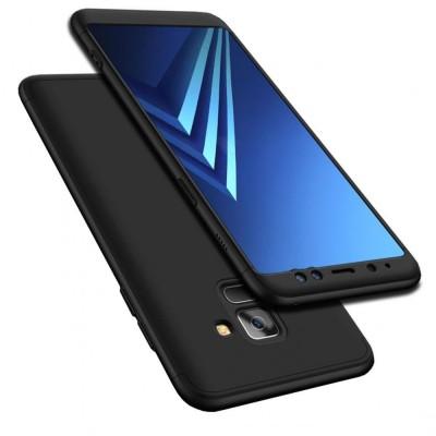 Husa 360 cu folie sticla Samsung Galaxy A8 Plus 2018