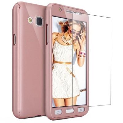 Husa 360 rose cu folie sticla Samsung Galaxy J3 2016