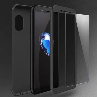 Husa 360 black + folie sticla Samsung Galaxy M20