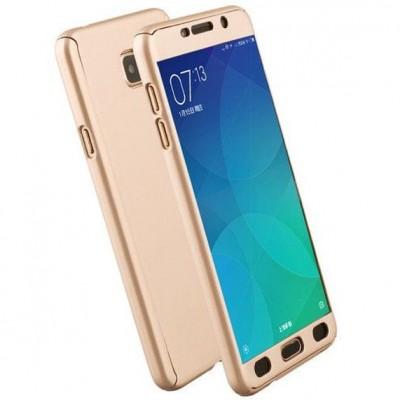 Husa 360 gold cu folie sticla Samsung Galaxy A3 2017