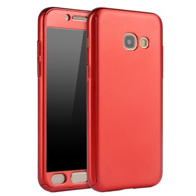 Husa 360 red cu folie sticla Samsung Galaxy A3 2017