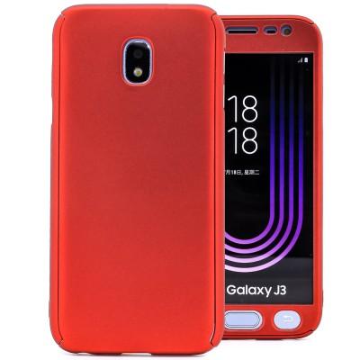 Husa 360 red cu folie sticla Samsung Galaxy J3 2017 / J3 Pro