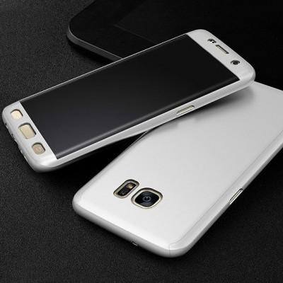 Husa 360 silver cu folie sticla Samsung Galaxy J3 2017 / J3 Pro
