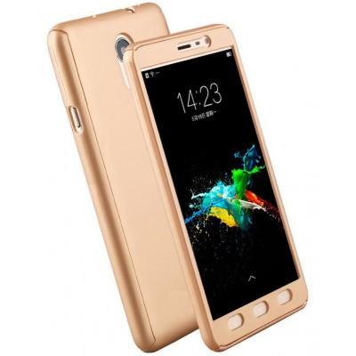 Husa 360 gold cu folie sticla Samsung Galaxy J7 2017 / J7 Pro