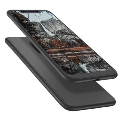 Husa 360 (fata + spate + folie sticla) pentru Xiaomi Pocophone F1, Negru