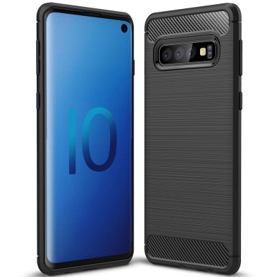 Husa silicon carbon Samsung Galaxy S10 Plus