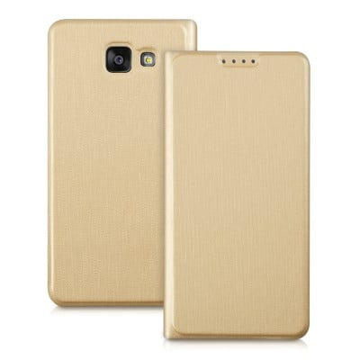Husa flip cover gold Samsung Galaxy A5 2016