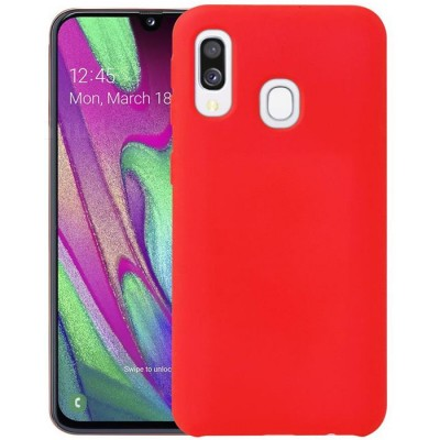 Husa silicon Silky Slim Red Samsung Galaxy A40