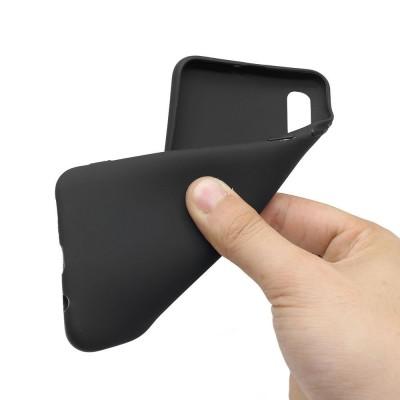 Husa silicon silky slim black Samsung Galaxy A40