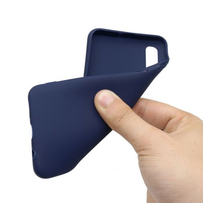 Husa silicon silky slim blue Samsung Galaxy A50