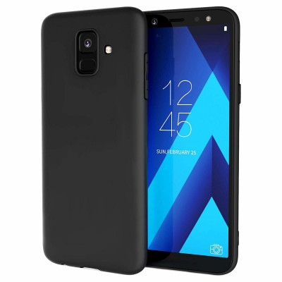 Husa silicon slim black Samsung Galaxy A6 2018
