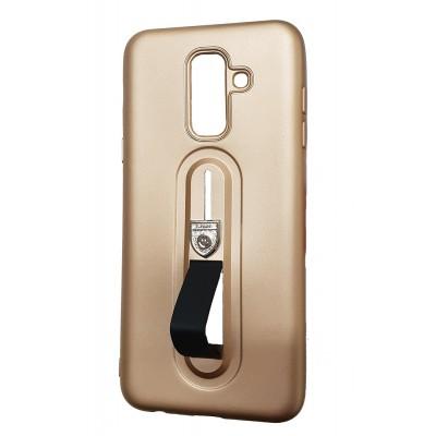 Husa cu suport gold Samsung Galaxy A6 Plus 2018