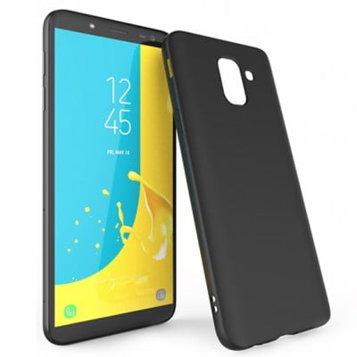 Husa silicon slim black Samsung Galaxy J6 2018