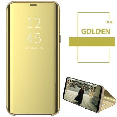 Husa flip view Samsung Galaxy A5 2017 Gold