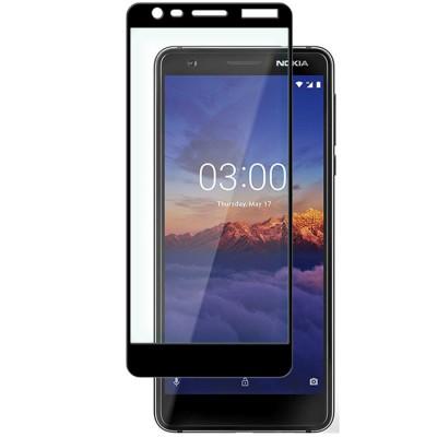 Folie sticla full glue black pentru Nokia 3.1 (2018)
