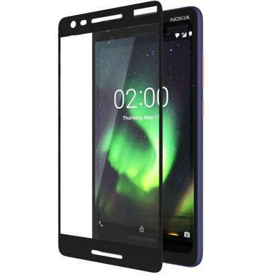 Folie sticla full glue black pentru Nokia 2.1 (2018)
