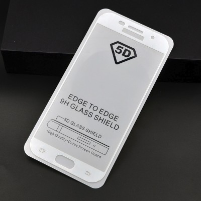 Folie sticla full glue white pentru Samsung Galaxy A7 (2017)