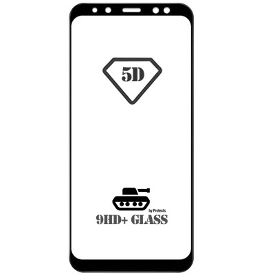 Folie sticla full glue black pentru Samsung Galaxy A8 Plus (2018)