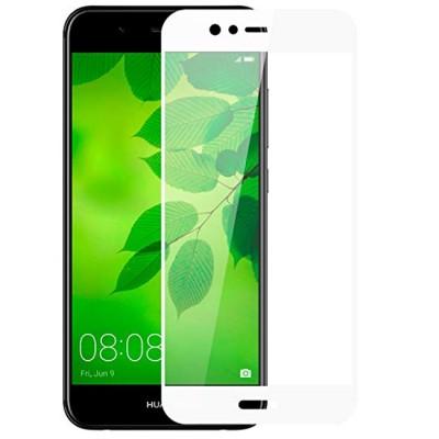 Folie sticla full glue white pentru Huawei Nova 2 Plus