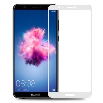 Folie sticla full glue white pentru Huawei P Smart