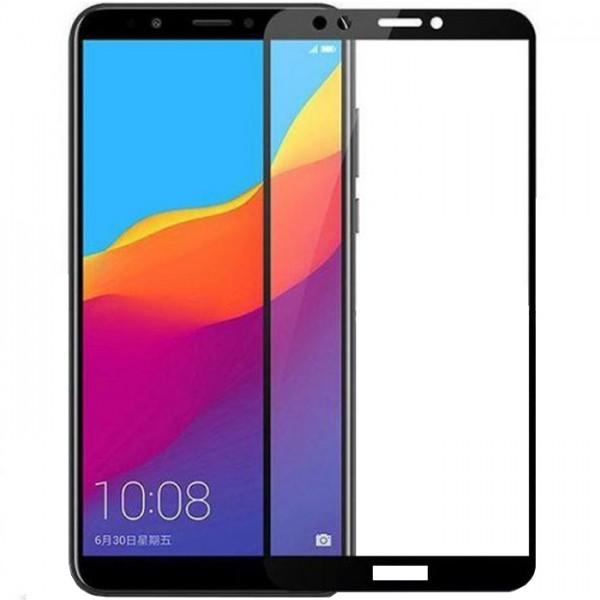 Folie sticla full glue black pentru Huawei Y9 (2018)