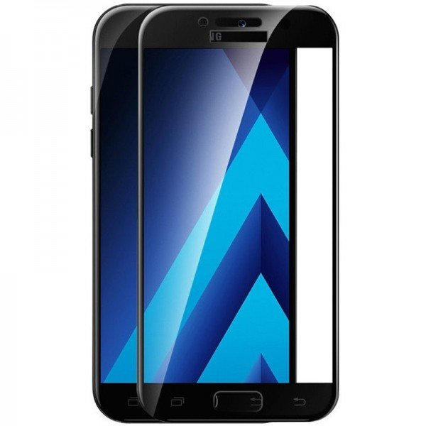 Folie sticla black 5D Samsung Galaxy A3 2017