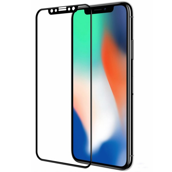Folie sticla black 5D iPhone X / XS