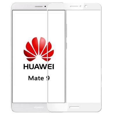 Folie sticla full glue white pentru Huawei Mate 9