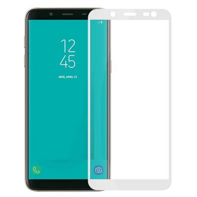 Folie sticla full glue white pentru Samsung Galaxy J8 (2018)