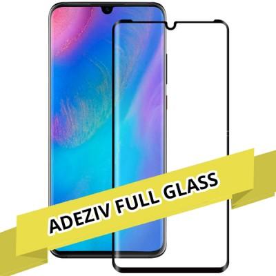 Folie sticla full adeziv black pentru Huawei P30