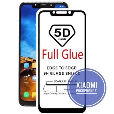 Folie sticla full glue black pentru Xiaomi Pocophone F1