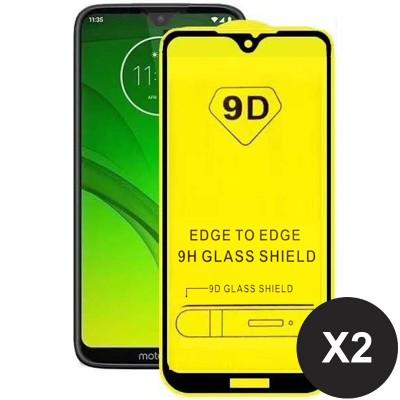 Folie sticla pentru Moto G7 Plus Full 9D x2 Black
