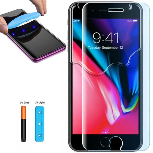 Folie sticla cu gel UV pentru iPhone 7 / 8