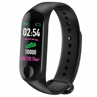 Bratara Fitness M3 Band, Ritm Cardiac, Puls, Monitorizare Activitati, Notificari, Black