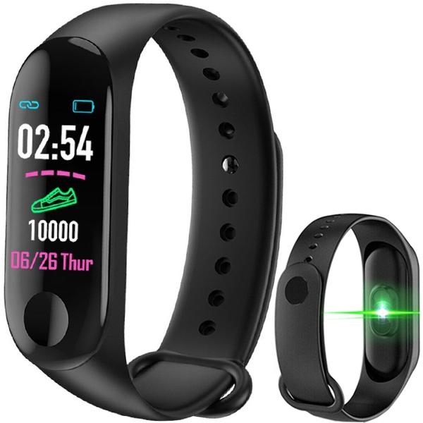 Bratara Fitness M3 Band, Monitorizare Activitati Sanatate Somn Puls Oxigen Ritm, Notificari Aplicatii