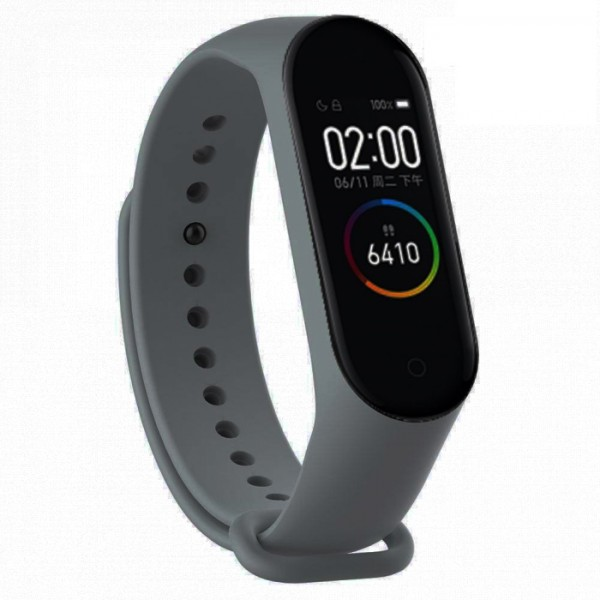 Bratara Fitness M4 Band Grey, Ritm Cardiac, Puls, Monitorizare Activitati, Notificari Apeluri SMS Aplicatii